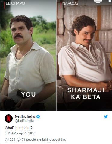 Netflix India, Hilarious Twitter Banter and Comic Content